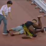 【悲報】ボルト セグウェイに乗ったカメラマンに激突される!? ふくらはぎを怪我・・大丈夫なのか!?