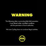 盗んだらお祭り騒ぎ!?自転車泥棒を撲滅するキャンペーンが斬新すぎる映像!